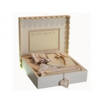 Σετ ξυλινο κουτι γεννησης 32x32x8