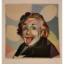 Mαξιλαροθήκη στόφα με Αϊνστάιν.  45x45cm. oikos427