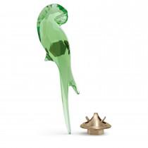 Swarovski κρυστάλλινος παπαγάλος μαγνήτης 5557813 Jungle Beats Parrot Magnet Green, Small