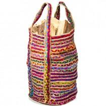 Τσάντα σάκος κουρελου/γιουτα πολυχρωμη 40x60εκ.