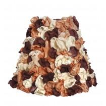 Καπέλο φωτιστικού με υφασμάτινα λουλούδια. 18x20cm. oikos219