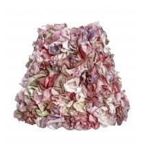 Καπέλο φωτιστικού με υφασμάτινα λουλούδια. 18x20cm. oikos218