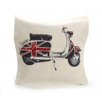 Διακοσμητικο μαξιλαρι με βεσπα σημαια της Αγγλιας 45x45cm