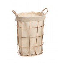 Kαλαθάκι κουζίνας φοδραρισμένο-μπέζ. 41x20x32cm oikos604