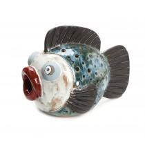 Φαναρι χειροποιητο κεραμικο ψαρι 25x35x23 cm