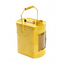 Φαναρι μεταλλικο κιτρινο με χερουλι σχεδιο δοχειο καυσιμου 50x33x22cm