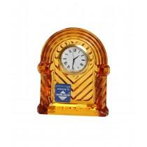 Ρολόι επιτραπέζιο από κρύσταλλο - μελί. 10x9cm. oikos286