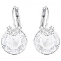 Swarovski επιροδιωμένα σκουλαρίκια 5292855 Bella V Pierced Earrings, White, Rhodium plating