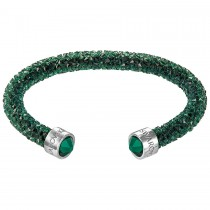 Swarovski 5250690 Crystaldust Cuff, Green medium βραχιόλι.