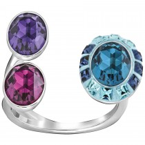 Swarovski 5206839 Eminence Medium Open Ring επιροδιωμένο δαχτυλίδι.