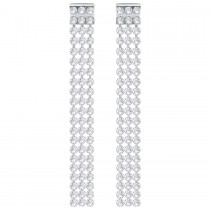 Swarovski 5293087 FIT LONG PIERCED EARRINGS, WHITE, PALLADIUM επιροδιωμένα σκουλαρίκια.