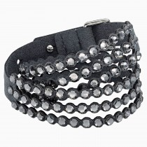 Swarovski 5512509 κρυστάλλινο βραχιόλι Power Collection Bracelet, Dark Gray