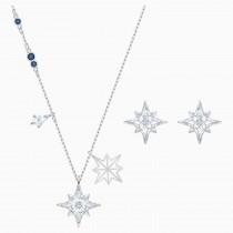SWAROVSKI 5517182 επιροδιωμένο σέτ κοσμημάτων SYMBOLIC STAR SET, WHITE, RHODIUM PLATED