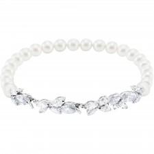 dde6a3856e Swarovski επιροδιωμένο βραχιόλι Louison Pearl Medium Bracelet