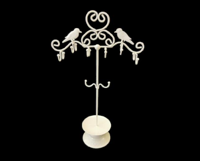 Μπιζουτιέρα Κοσμημάτων - μέταλλο - Λευκό.43x28cm.  oikos192
