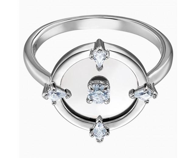 Swarovski επιροδιωμένο δαχτυλίδι 5497233 NORTH MOTIF RING, WHITE, RHODIUM PLATED No55