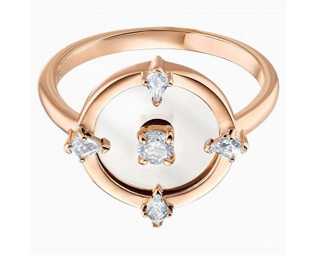 Swarovski επιχρυσωμένο δαχτυλίδι 5515035 NORTH MOTIF RING, WHITE, ROSE-GOLD Νο58