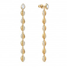 Swarovski 5520474 επιχρυσωμένα σκουλαρίκια SHELL COWRIE PIERCED EARRINGS, WHITE, GOLD-TONE PLATED